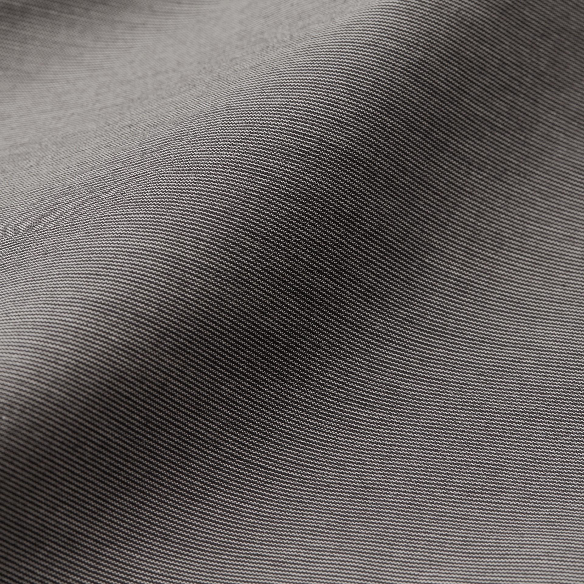 Gris oscuro Pantalones entallados en algodón - imagen de la galería 2
