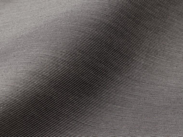 Gris oscuro Pantalones entallados en algodón - cell image 1