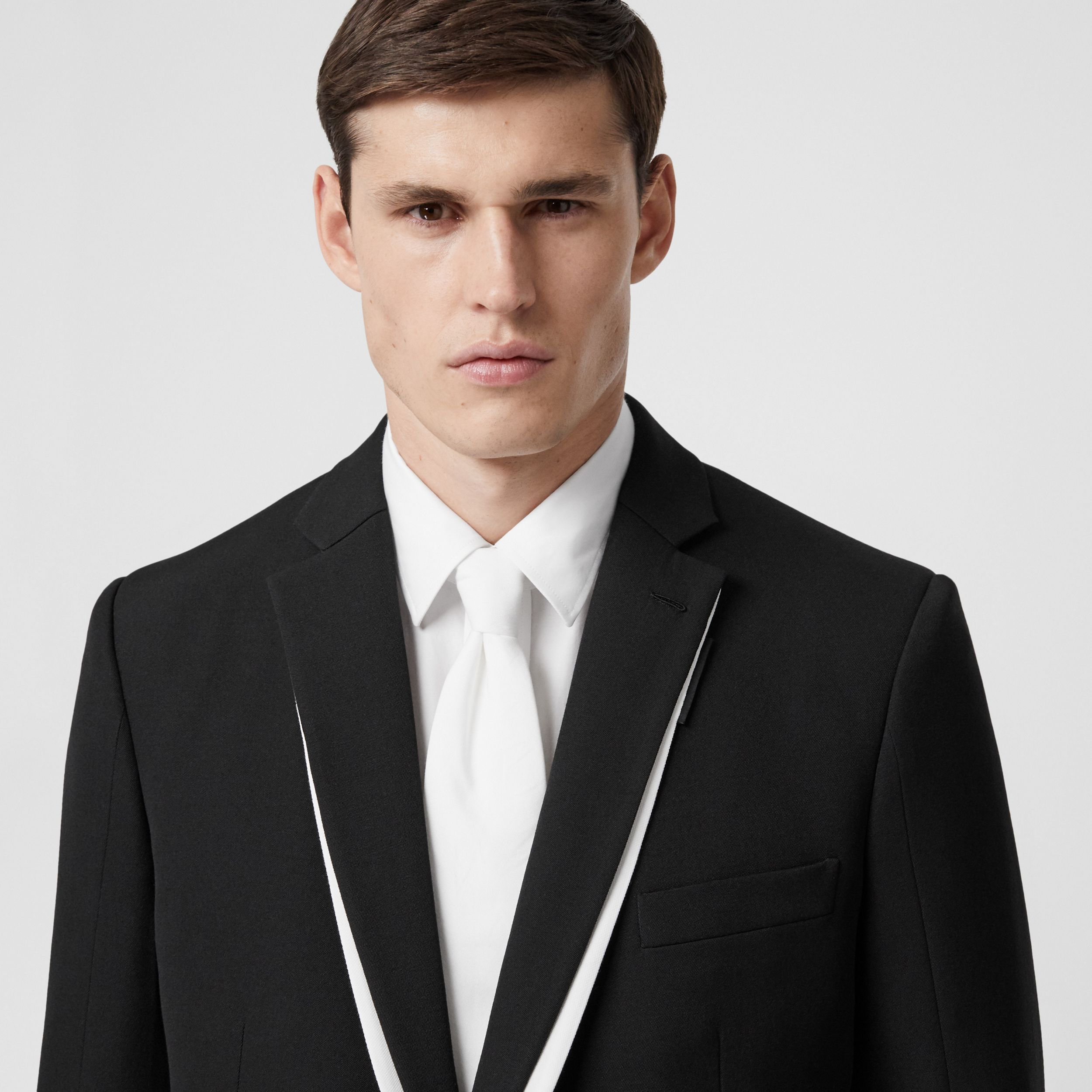 Classic Cut Cotton Tie in Optic White - Men | Burberry - 3