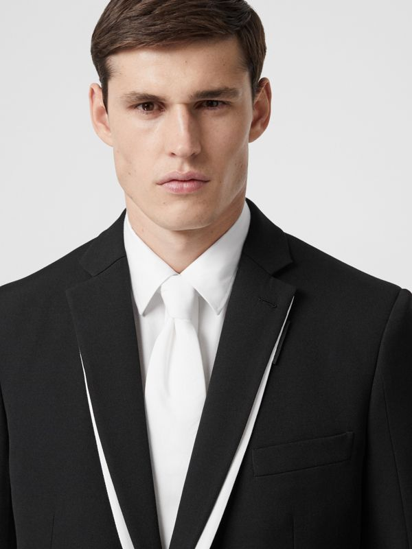 Classic Cut Cotton Tie in Optic White | Burberry - cell image 2