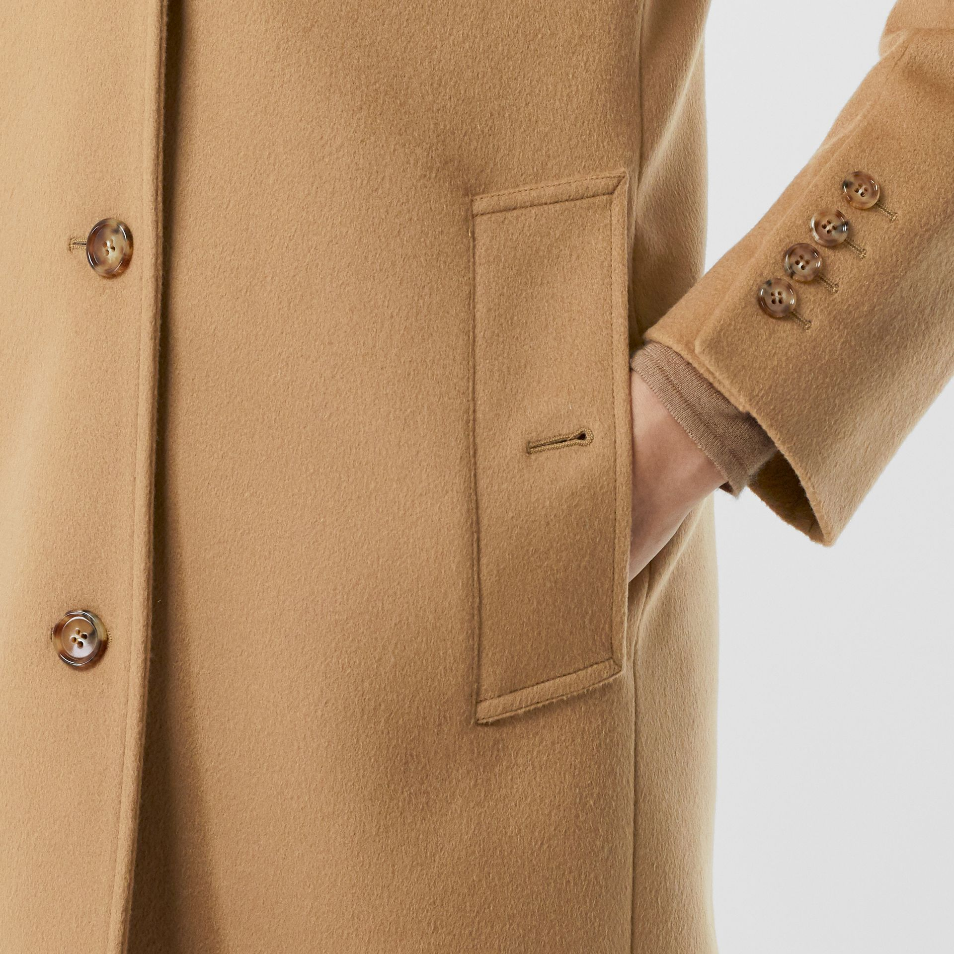 Wool Cashmere Tailored Coat in Light Camel - Women | Burberry - gallery image 5