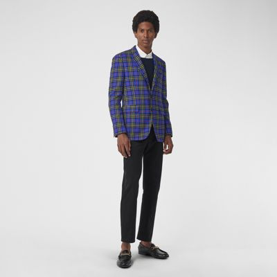 Classic Fit Tartan Wool Tailored Jacket by Burberry