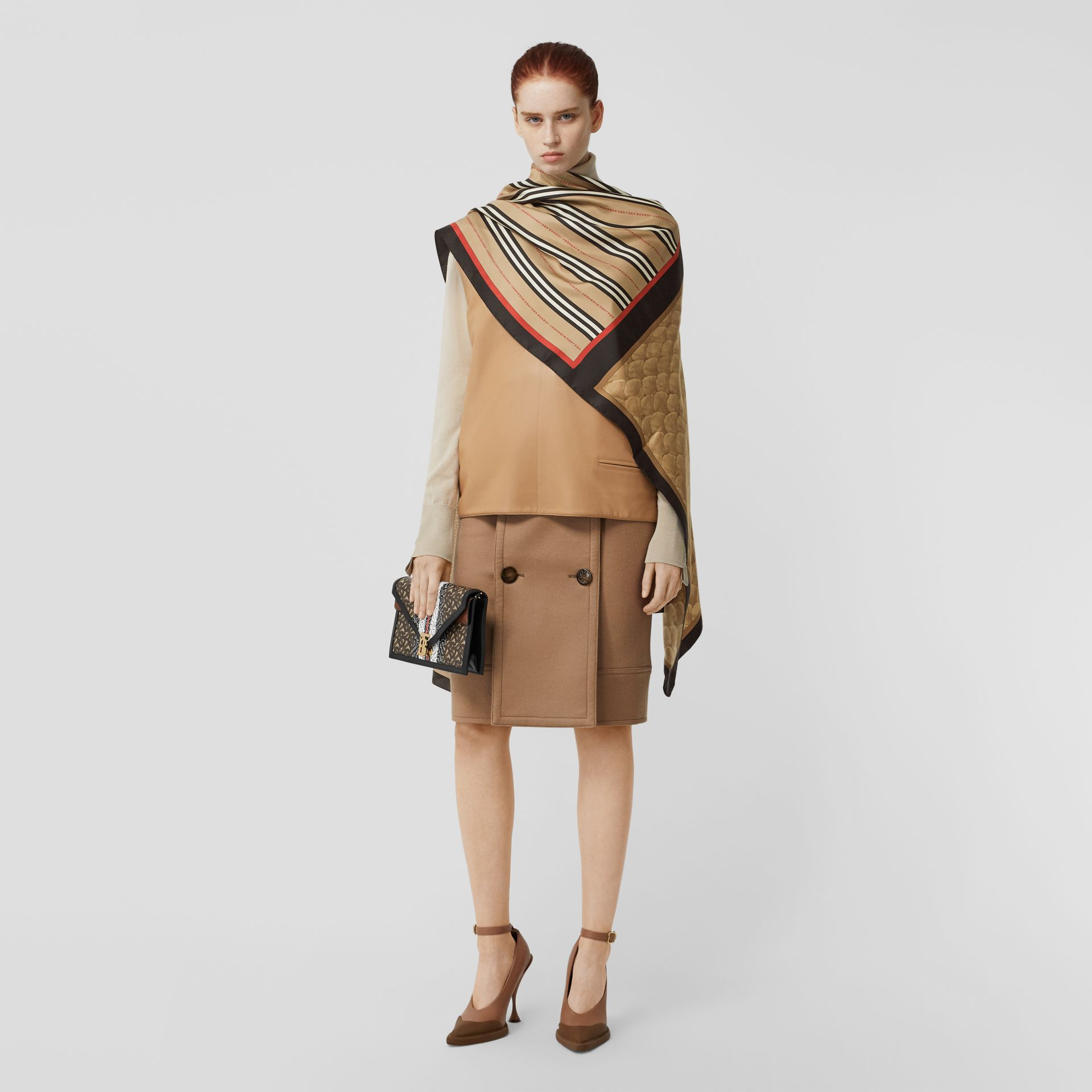 Montage Print Silk Scarf in Archive Beige | Burberry Singapore - gallery image 8