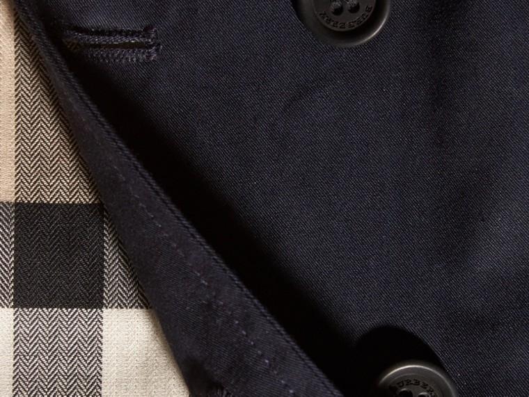 Ink Trench coat de sarja de algodão com capuz - cell image 1