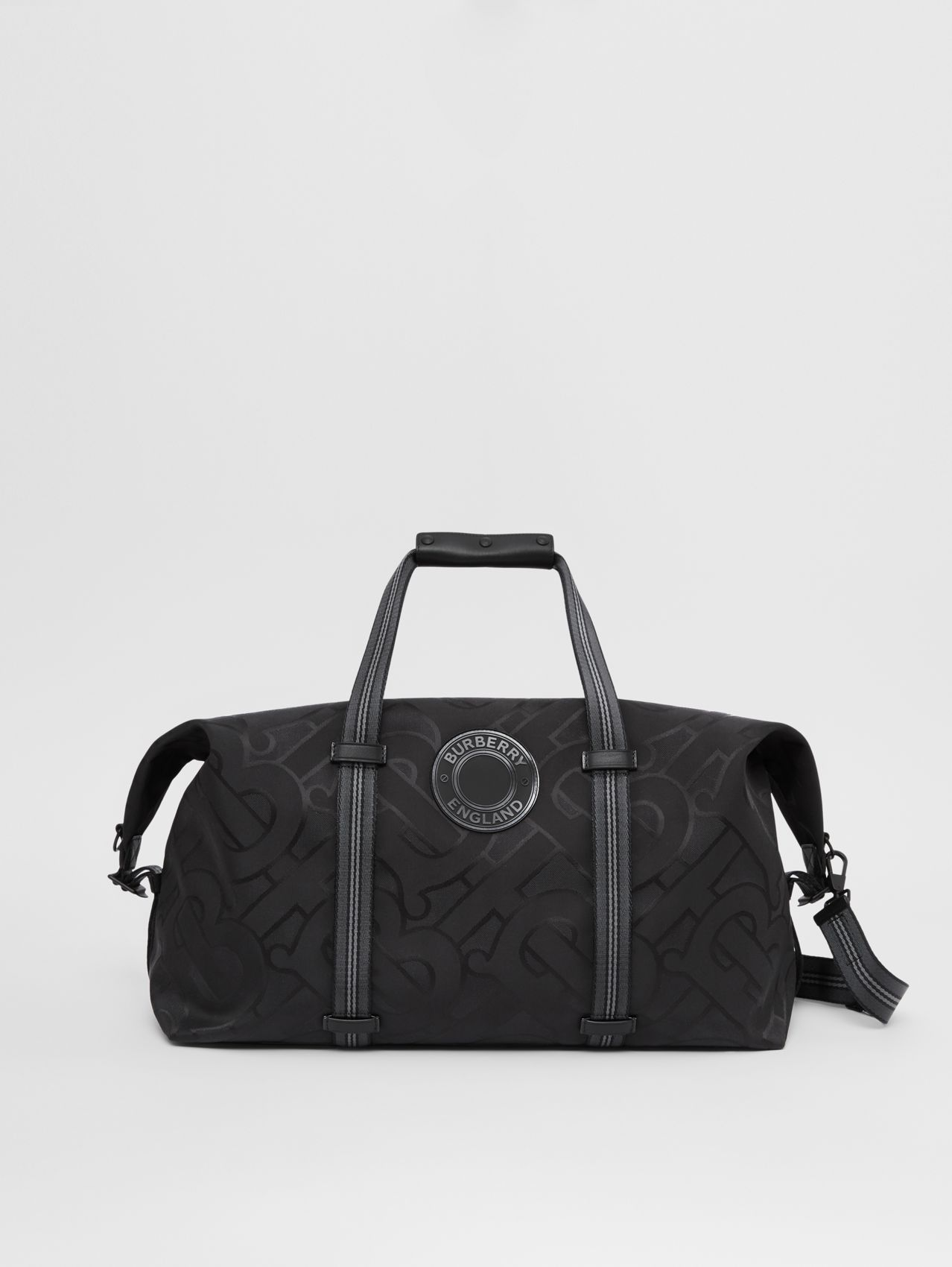 Monogram Recycled Polyester Jacquard Holdall in Black