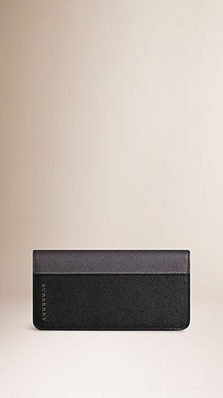 Colour Block London Leather Continental Wallet