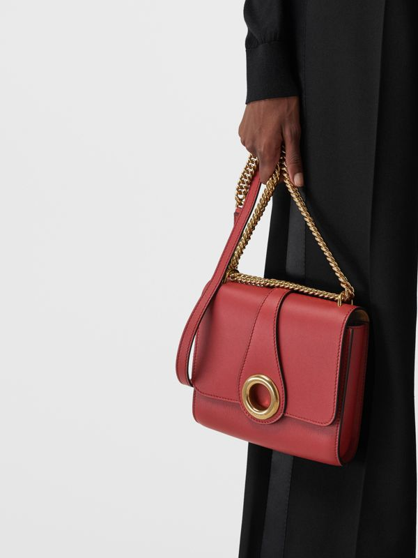 The Leather Grommet Detail Crossbody Bag in Crimson - Women | Burberry United Kingdom - cell image 3