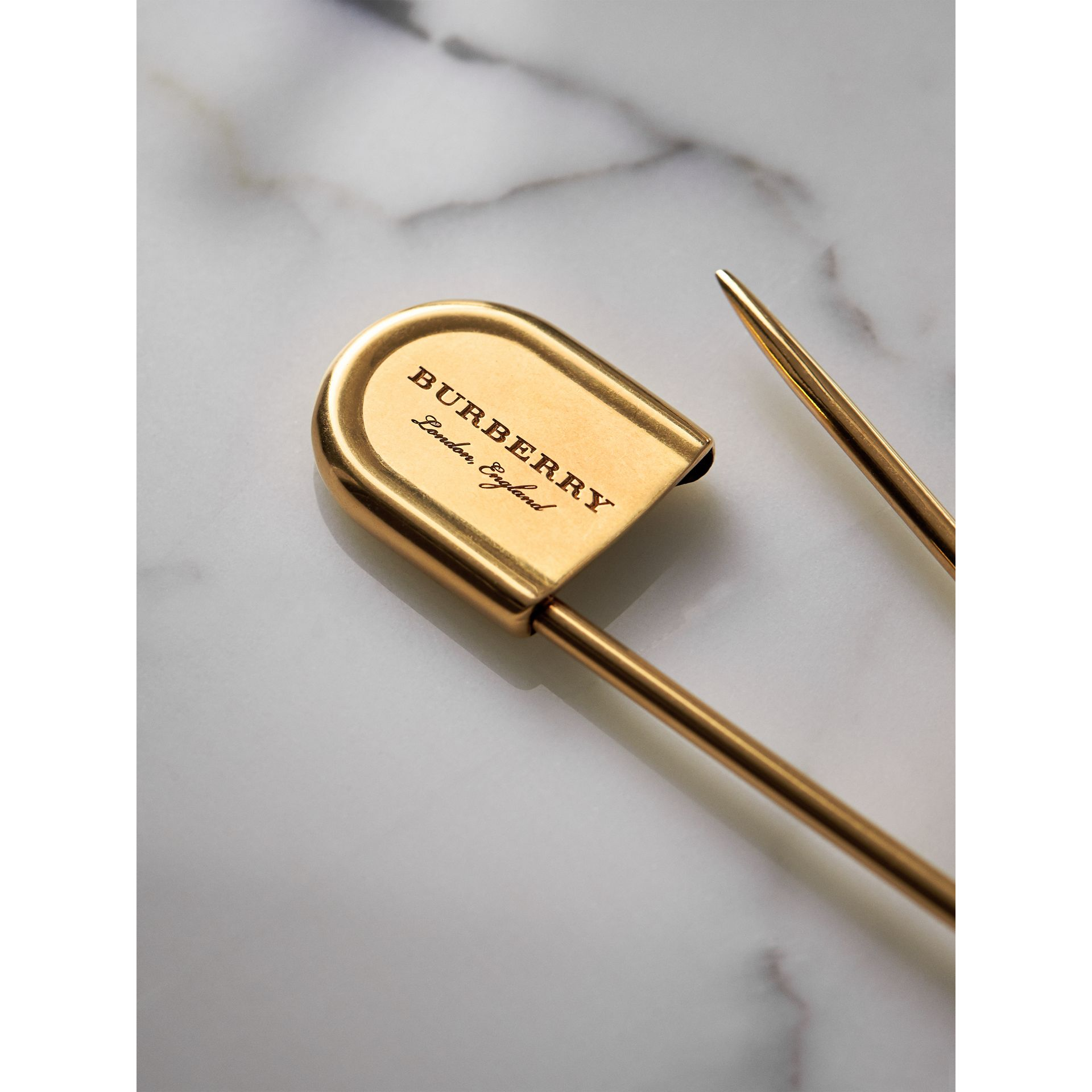Brass Oversized Pin in Vintage Dark | Burberry - gallery image 1