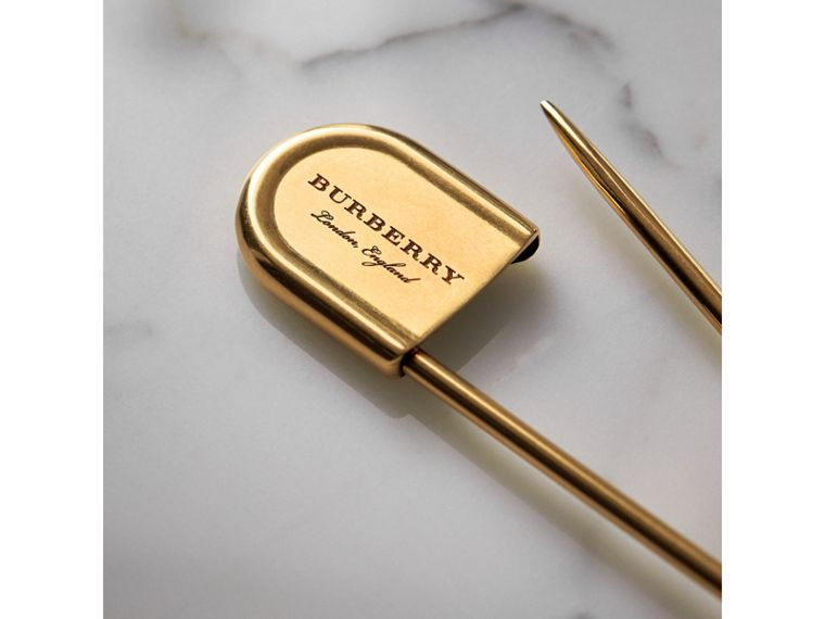 Brass Oversized Pin in Vintage Dark | Burberry United Kingdom - cell image 1