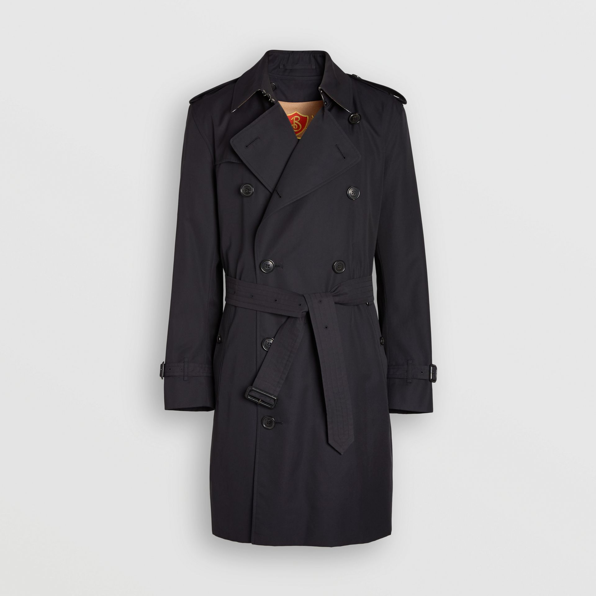 Cotton Gabardine Trench Coat with Warmer in Midnight - Men | Burberry - gallery image 3