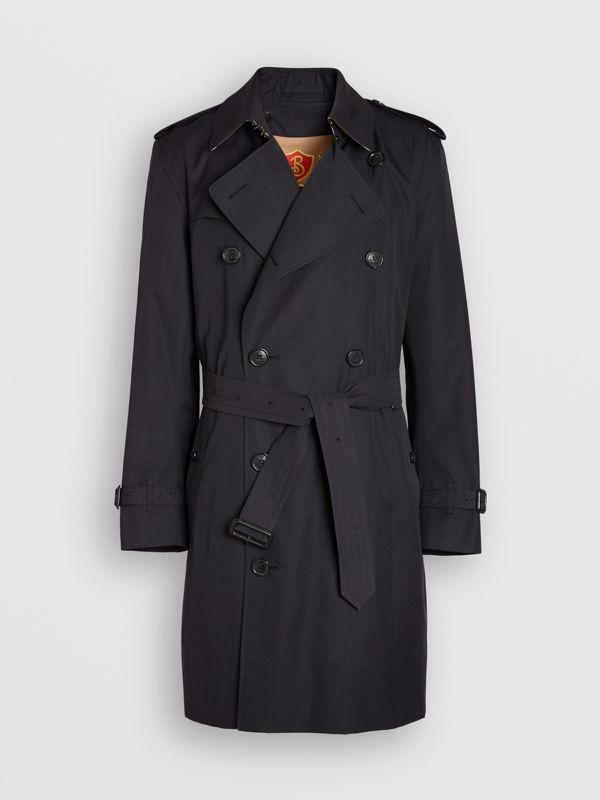 Cotton Gabardine Trench Coat with Warmer in Midnight - Men | Burberry - cell image 3