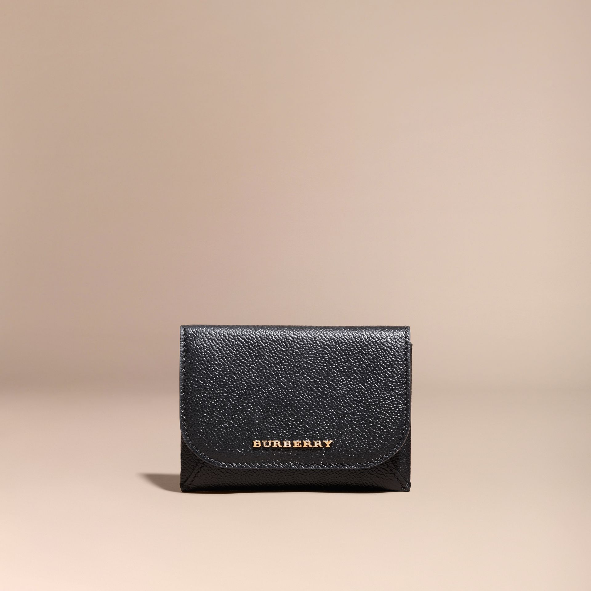 Leather Coin Case with Removable Card Compartment in Black - Women | Burberry - gallery image 6