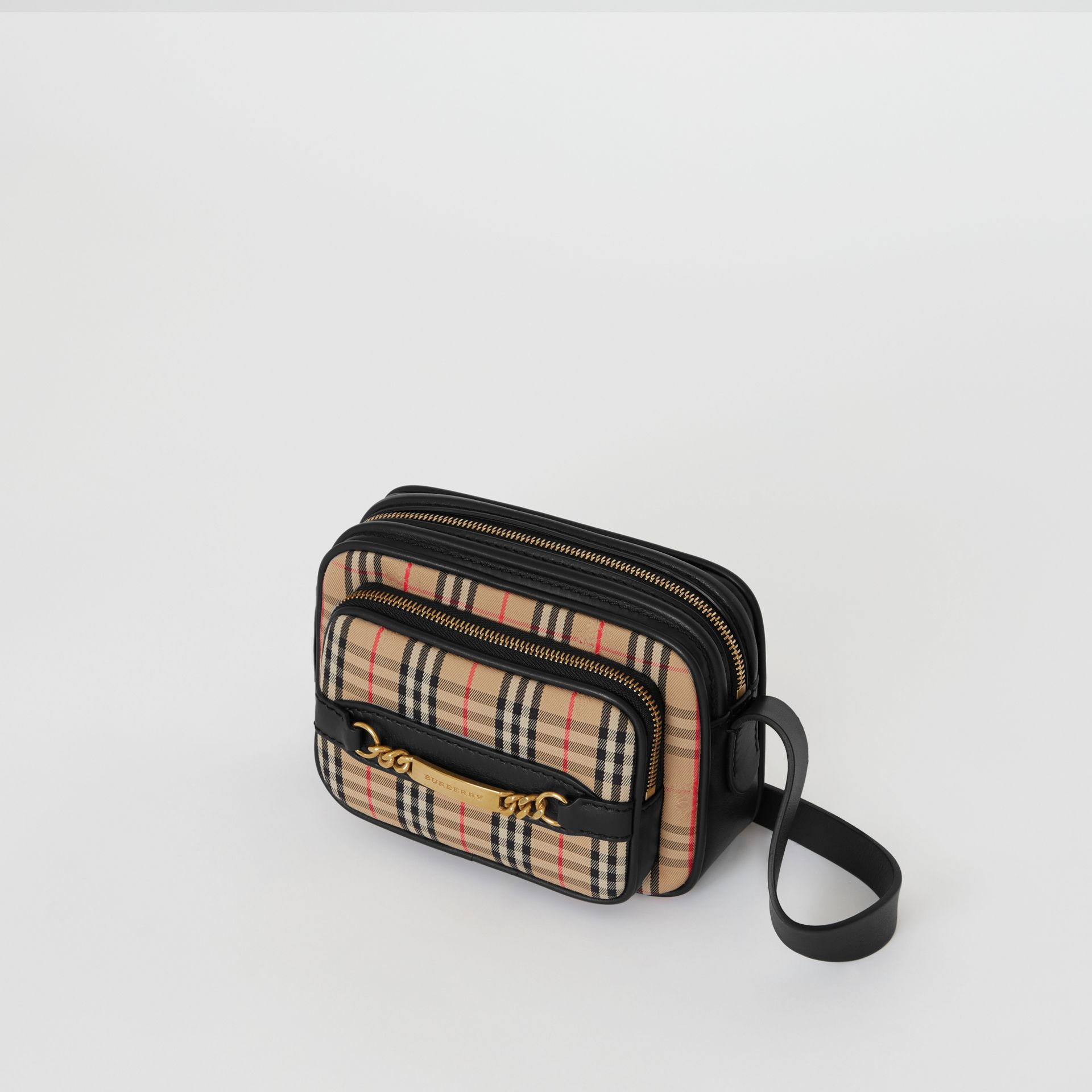 The 1983 Check Link Camera Bag in Black - Men | Burberry United Kingdom - gallery image 4