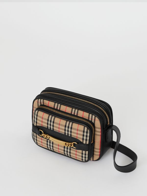 The 1983 Check Link Camera Bag in Black - Men | Burberry Singapore - cell image 2