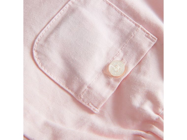 Check Turn-Up Cotton Trousers in Light Pink | Burberry Singapore - cell image 1