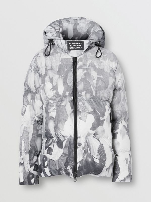 Rave Print Puffer Jacket in Monochrome - Men | Burberry - cell image 3