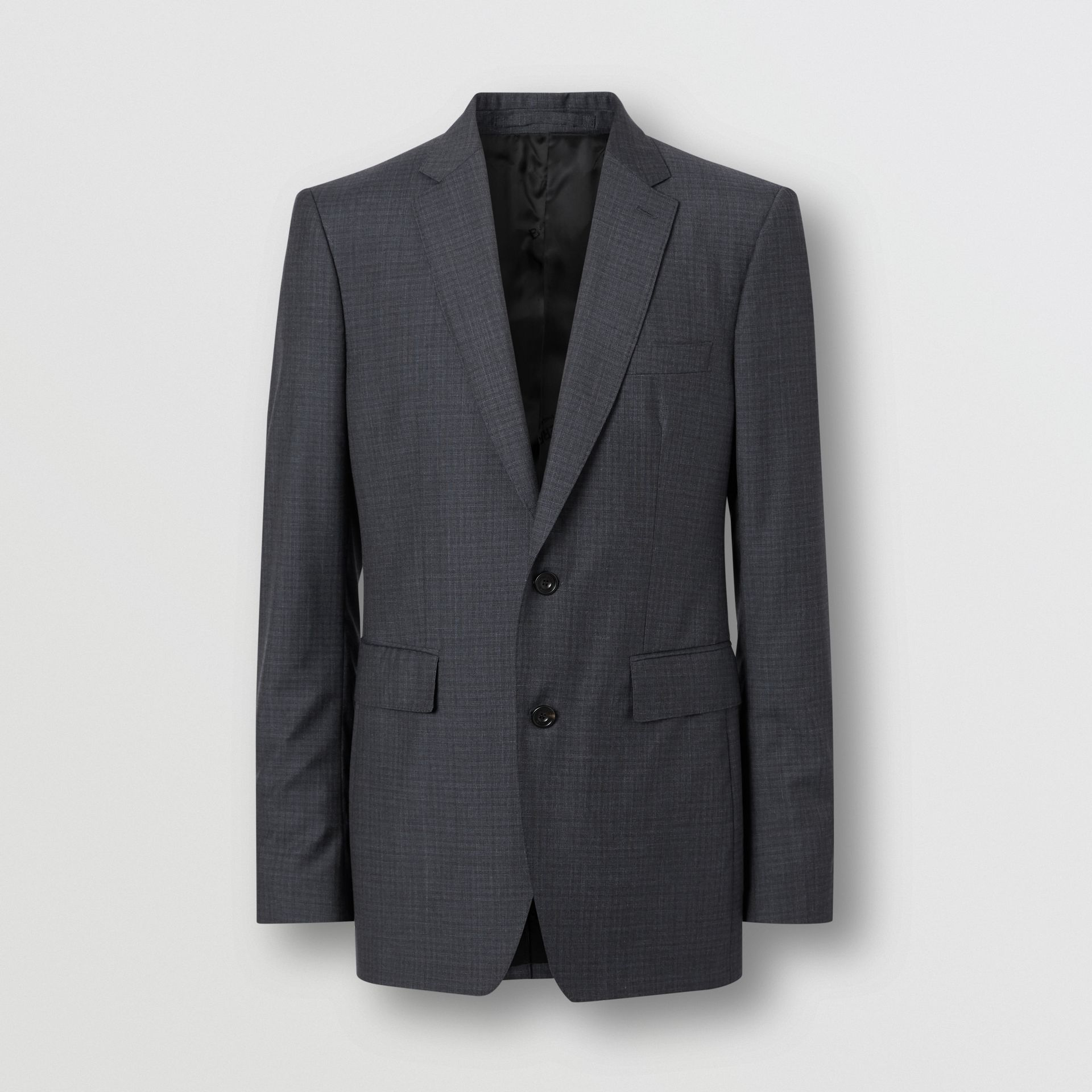 Classic Fit Check Wool Silk Three-piece Suit in Navy - Men | Burberry - gallery image 3