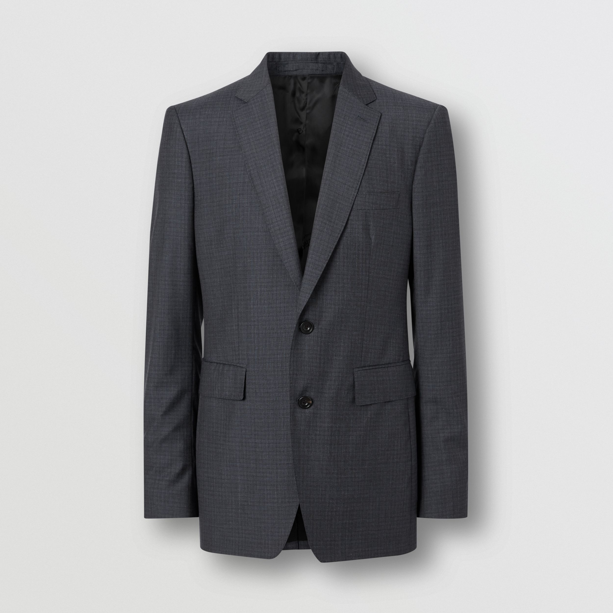Classic Fit Check Wool Silk Three-piece Suit in Navy - Men | Burberry - 4
