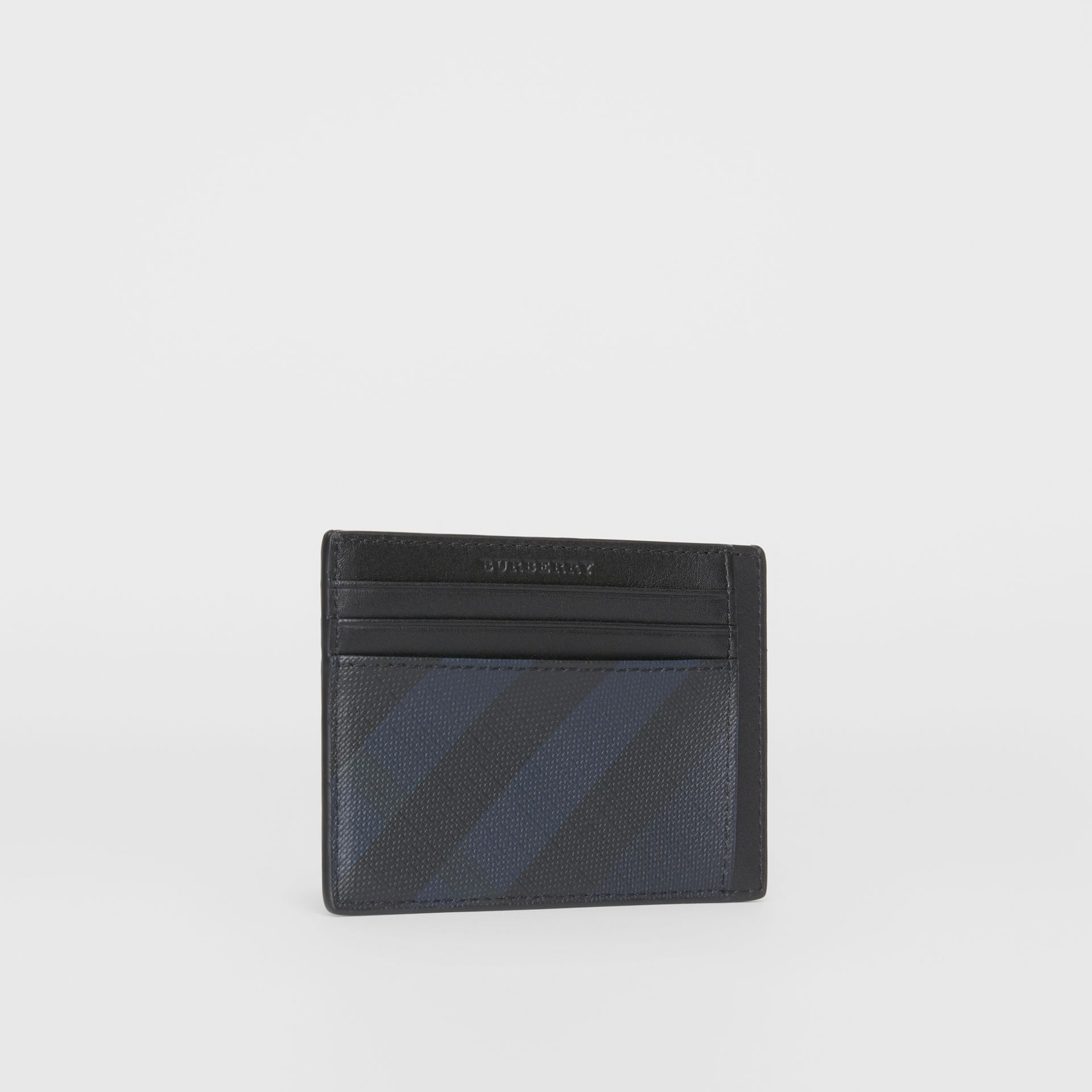 London Check Card Case in Navy/black - Men | Burberry - gallery image 4