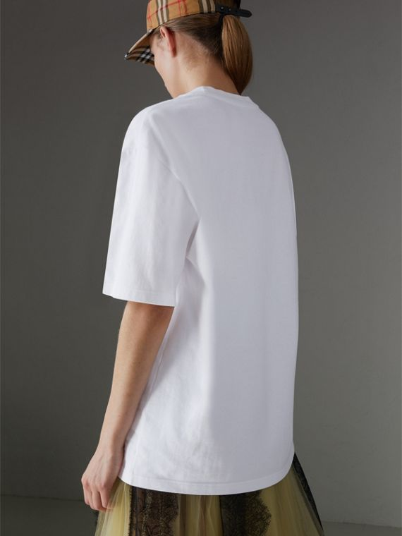 Reissued Cotton T-shirt in White - Women | Burberry - cell image 2
