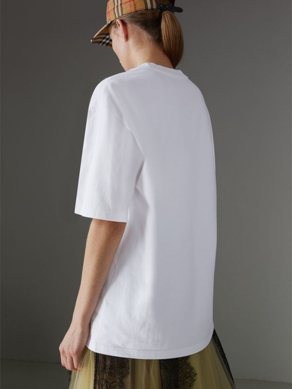Reissued Cotton T-shirt in White - Women | Burberry Australia - cell image 2