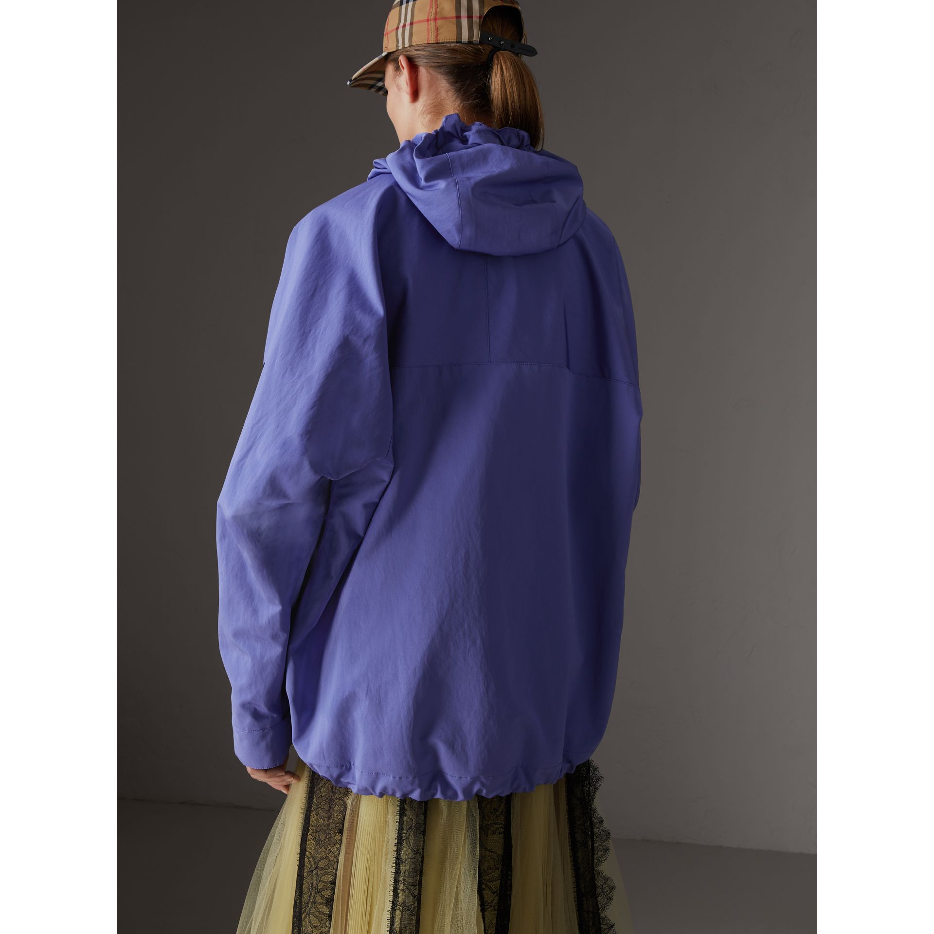 Reissued Hooded Anorak in Purple - Women | Burberry Canada - gallery image 2