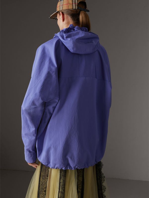 Reissued Hooded Anorak in Purple - Women | Burberry Australia - cell image 2