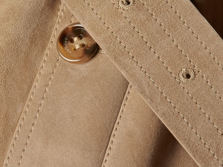 Shearling Trench Coat Camel - cell image 1