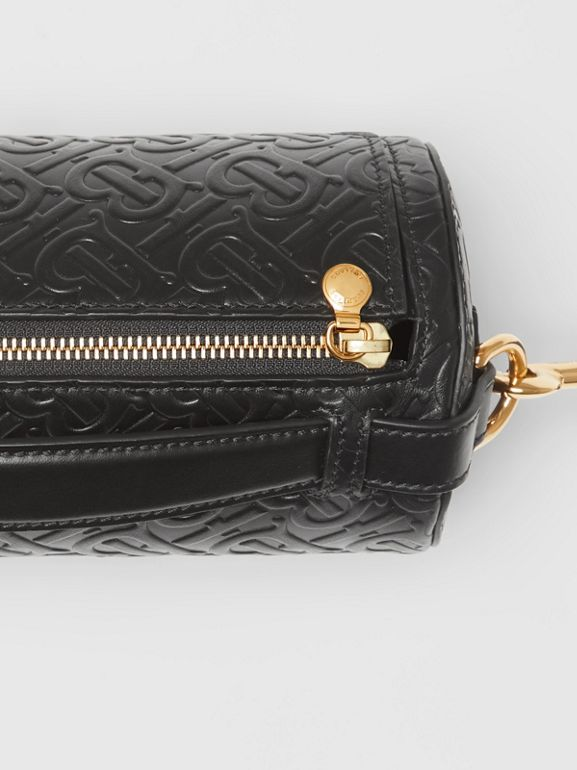 Sac The Barrel en cuir Monogram (Noir) - Femme | Burberry Canada - cell image 1