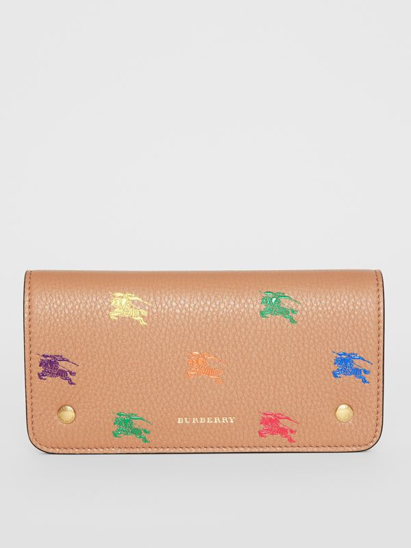 EKD Leather Phone Wallet in Light Camel - Women | Burberry - cell image 3