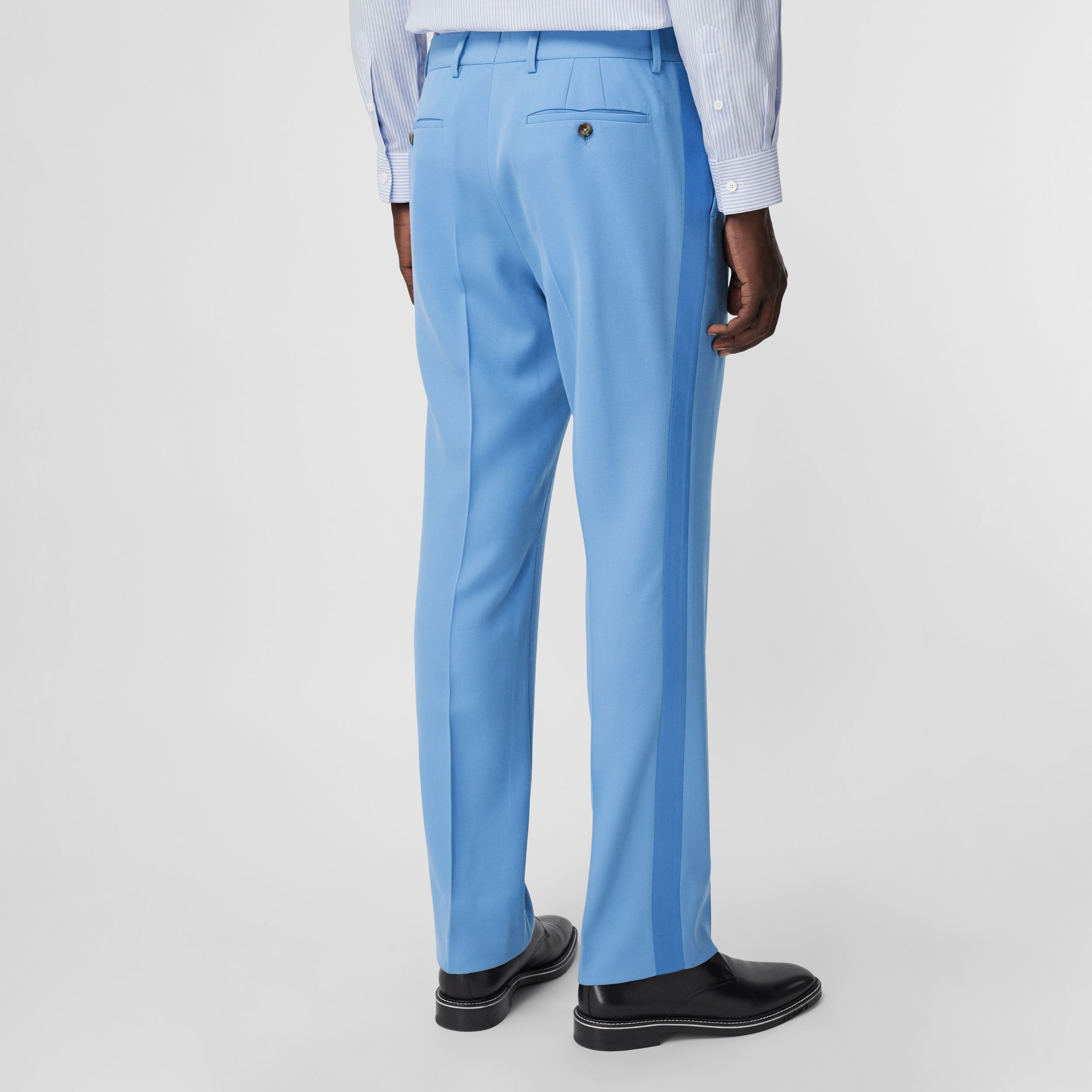 Classic Fit Wool Tailored Trousers in Vivid Cobalt - Men | Burberry - 3