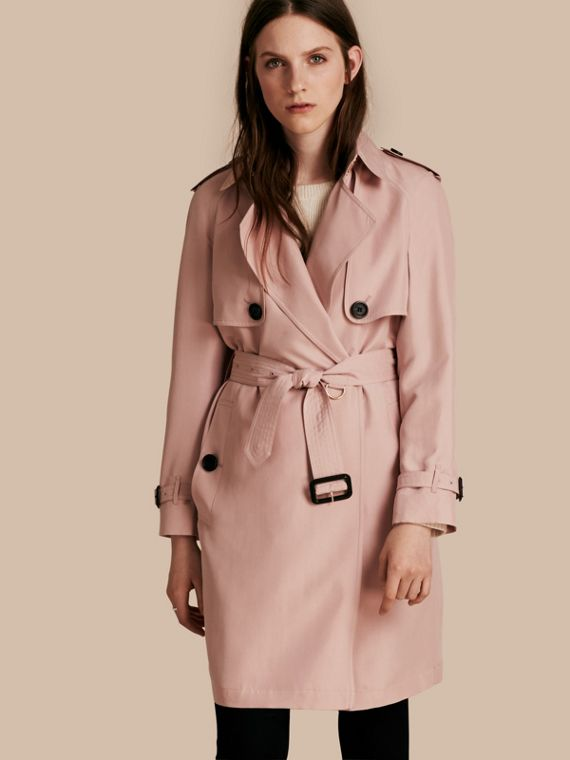 Lightweight Slub Silk Wrap Trench Coat