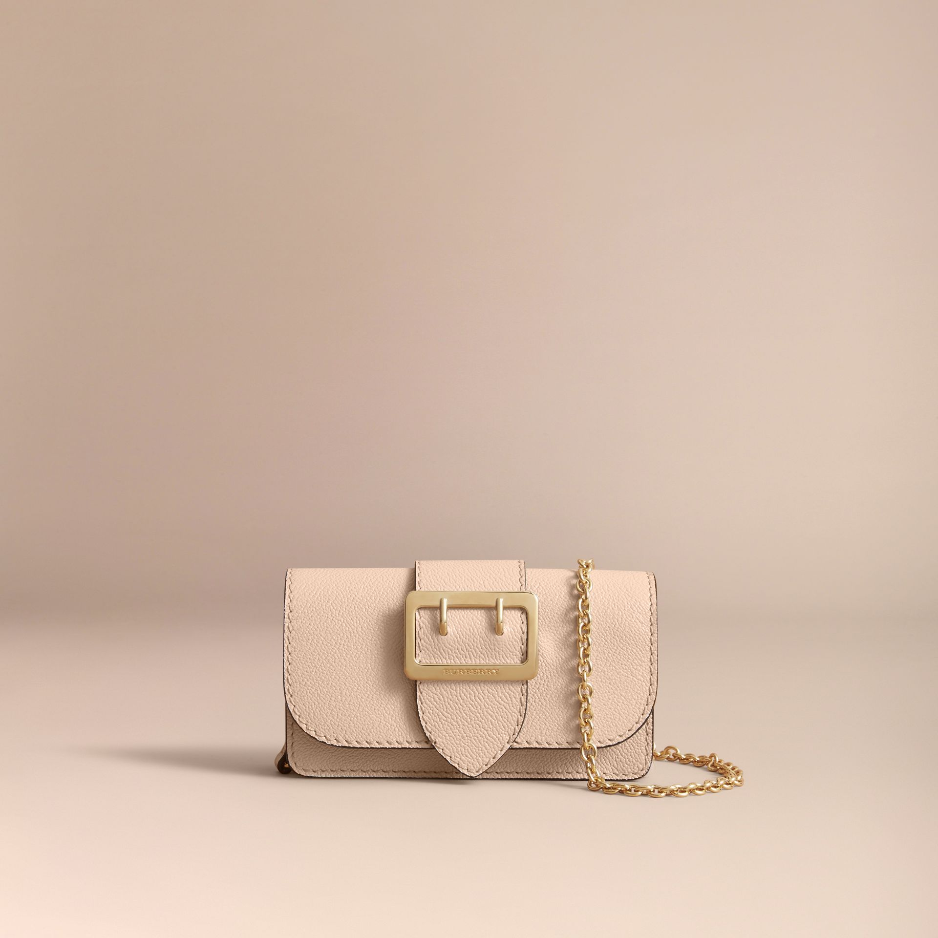 The Mini Buckle Bag in Grainy Leather in Limestone - Women | Burberry - gallery image 7