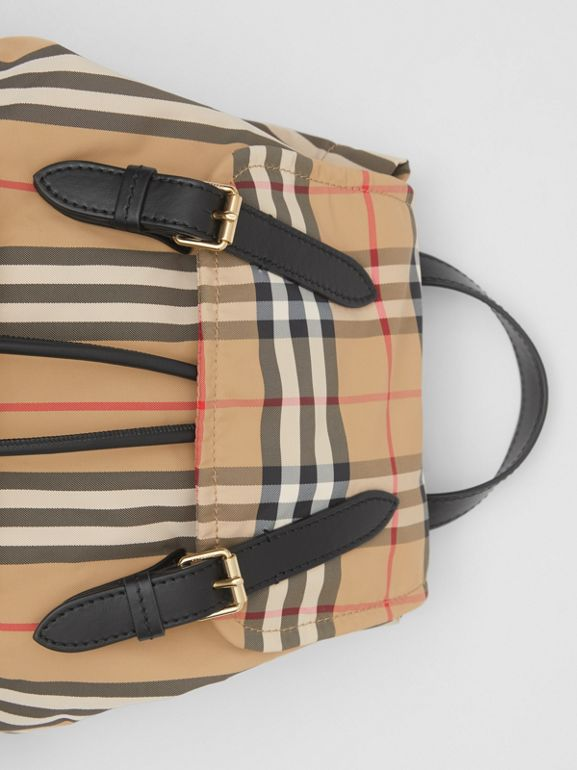 The Medium Rucksack in Vintage Check ECONYL® in Archive Beige - Women | Burberry - cell image 1
