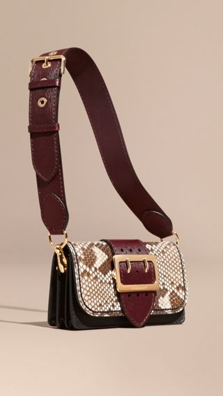 The Buckle Bag in Python and Leather