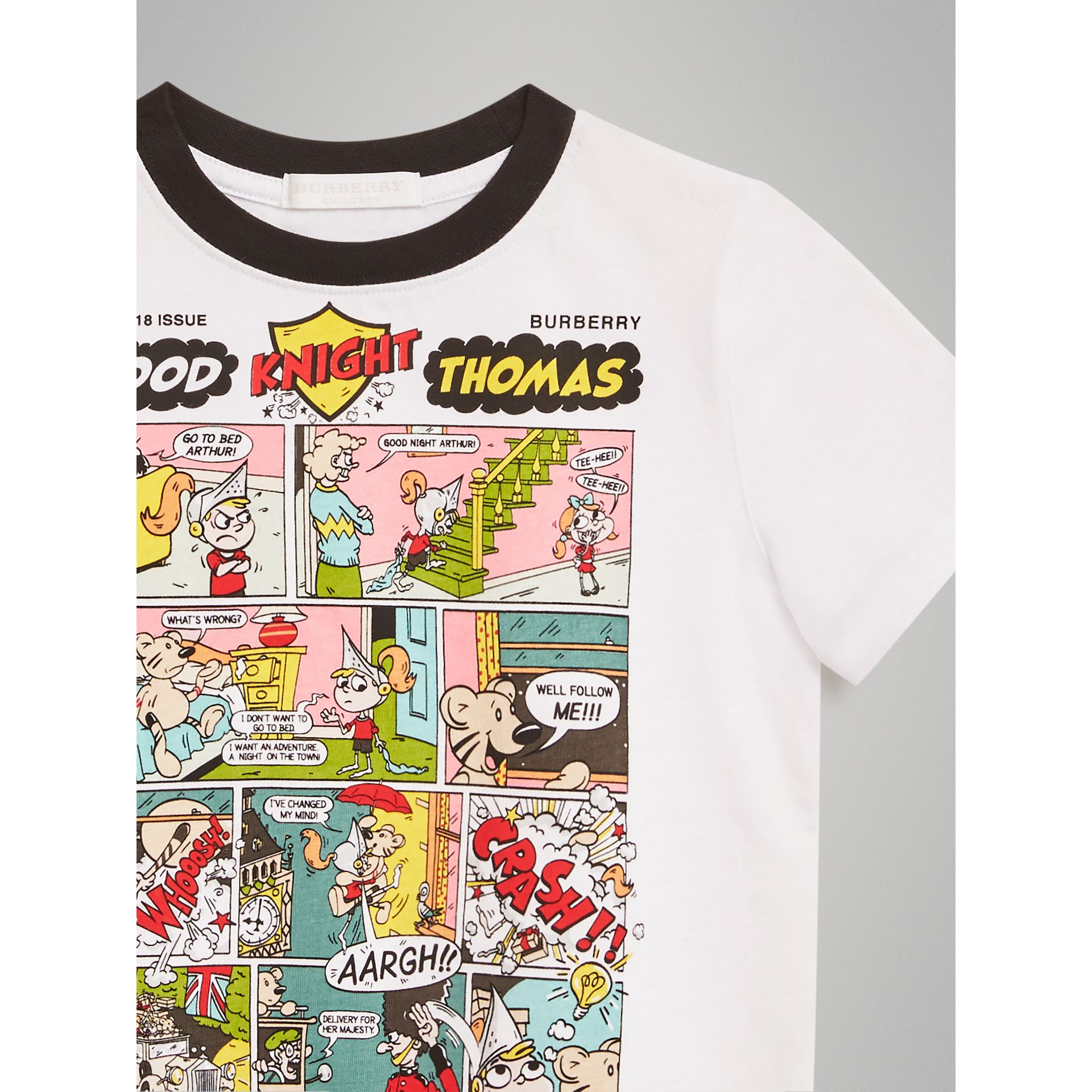 Thomas Bear Comic Print Cotton T-shirt in White | Burberry Australia - gallery image 4