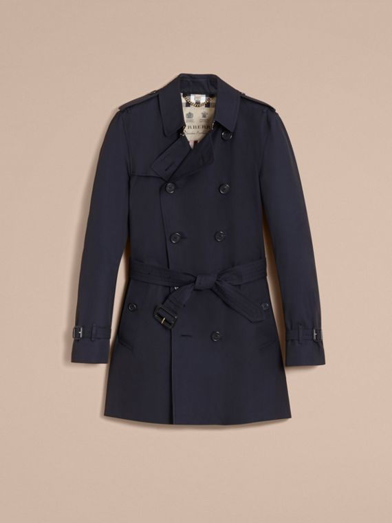 The Kensington – Mid-length Heritage Trench Coat in Navy - Men | Burberry Singapore - cell image 3