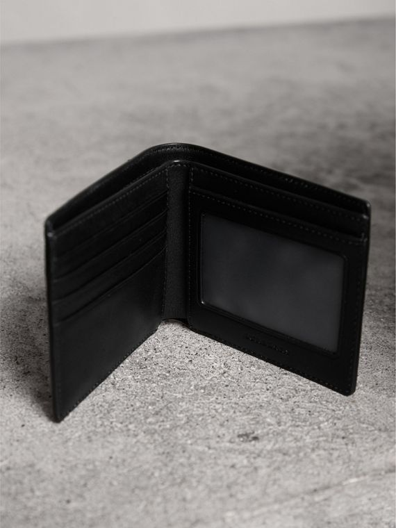 London Check ID Wallet in Chocolate/black - Men | Burberry Canada - cell image 3