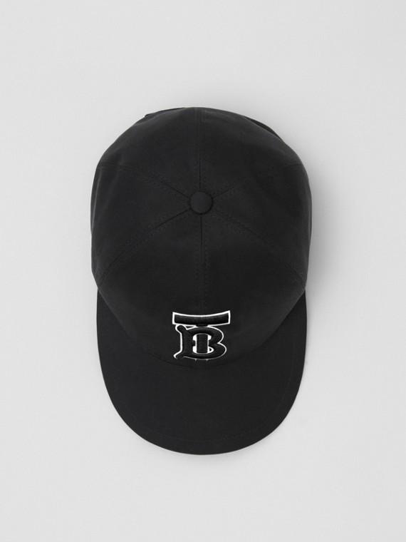 Monogram Motif Baseball Cap in Black / Black