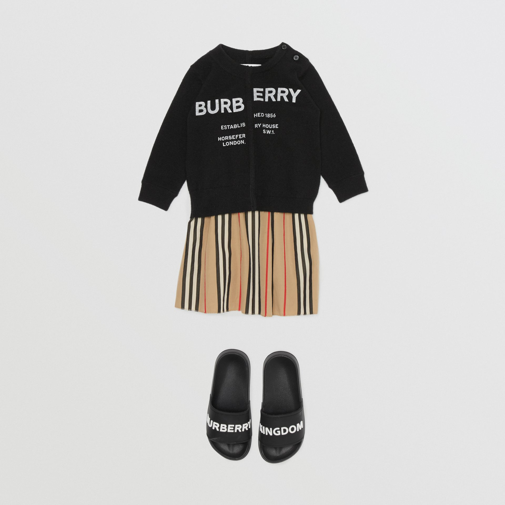 Horseferry Print Cashmere Sweater in Black - Children | Burberry - gallery image 2