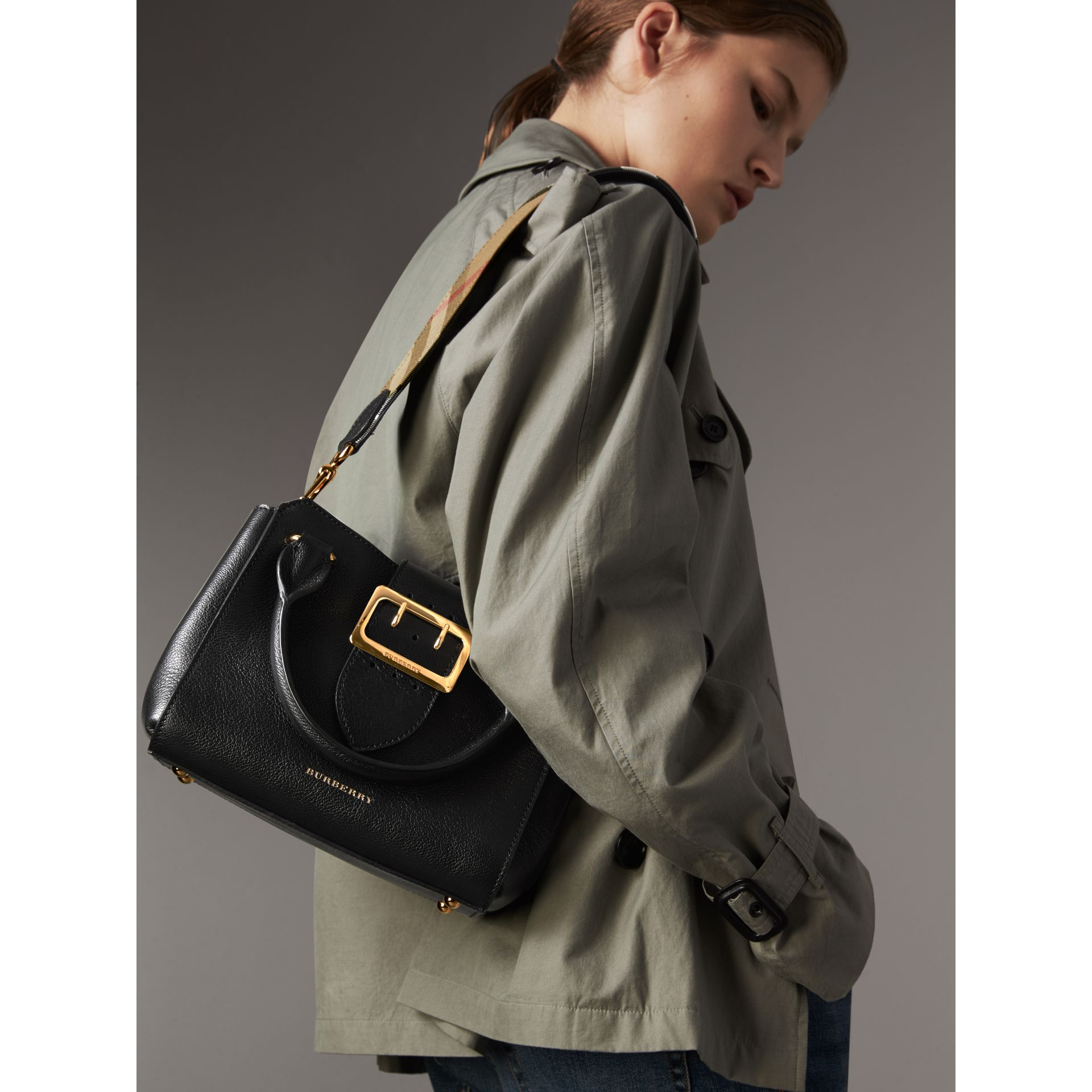 1f7ee9a6af2 Burberry The Small Buckle Tote in Grainy Leather at £975 | love the ...