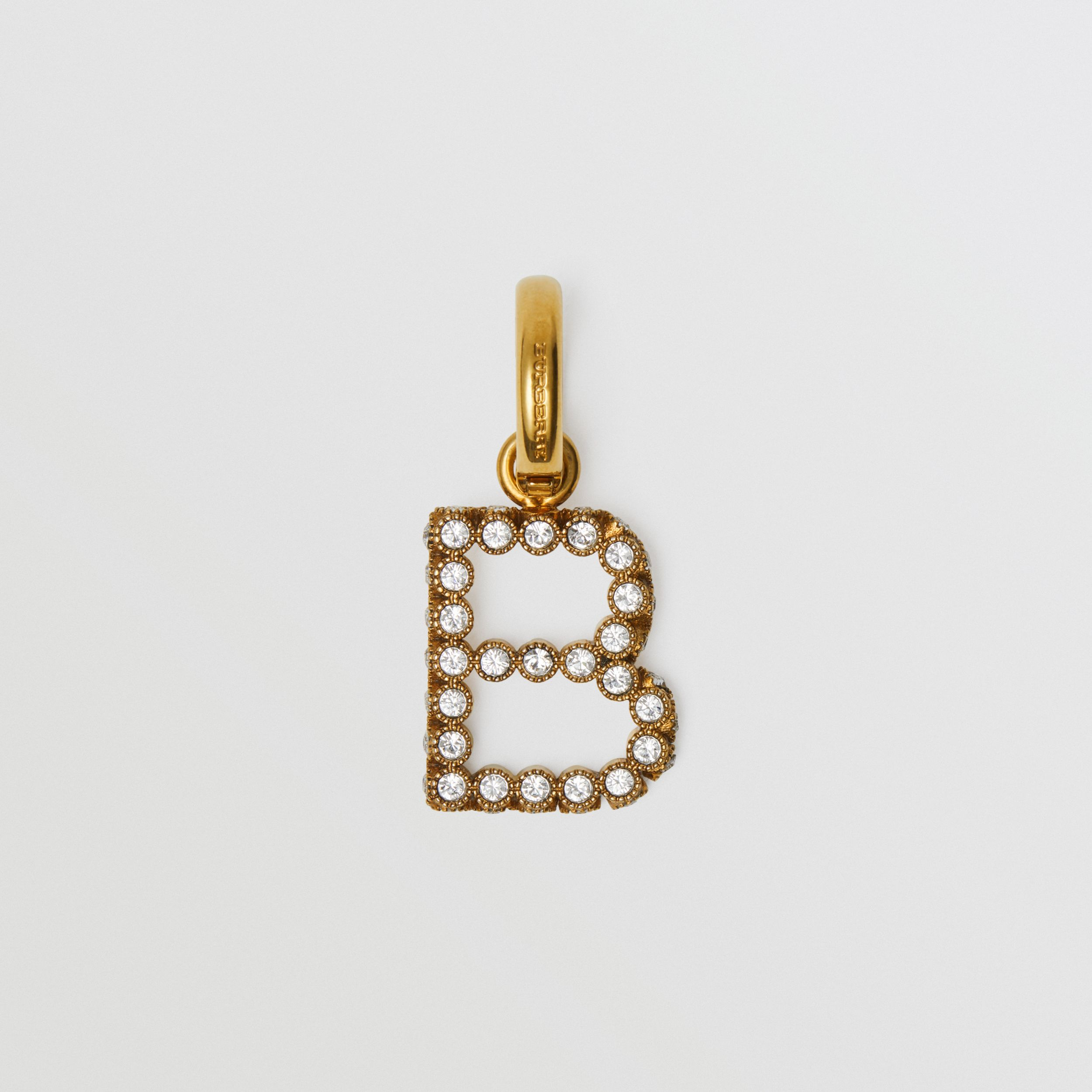Crystal 'B' Alphabet Charm - Women | Burberry United Kingdom - 1
