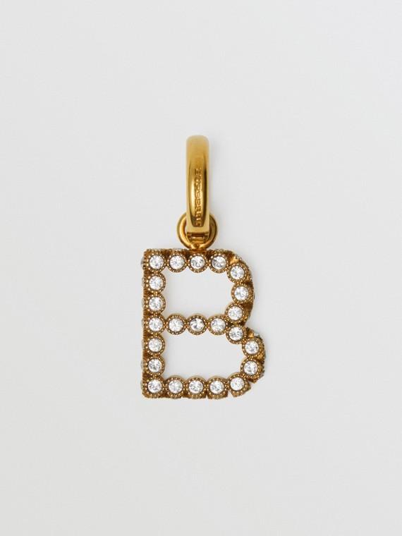 Bijou alphabet «B» en cristal