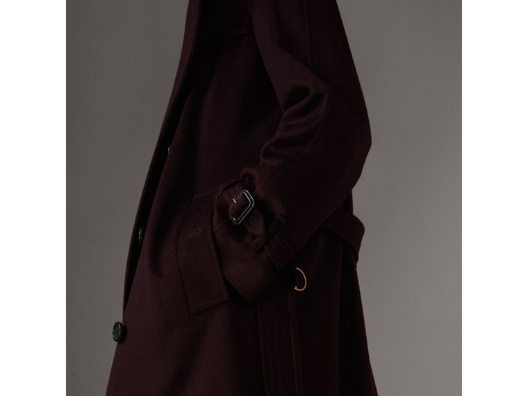 Cashmere Trench Coat in Blackcurrant - Women | Burberry - cell image 4