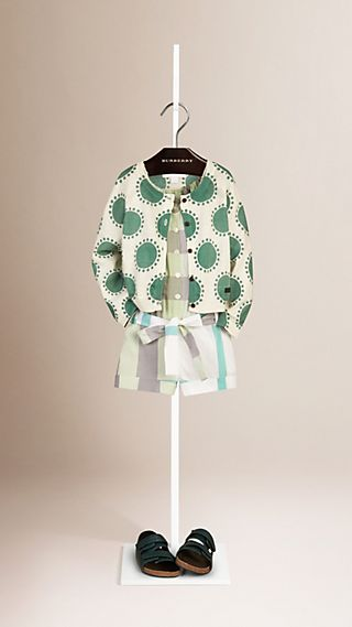 Printed Cotton Linen Cardigan