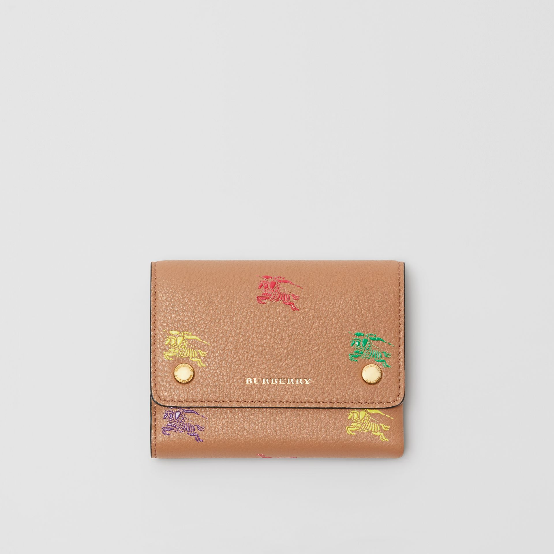 Small EKD Leather Wallet in Light Camel - Women | Burberry Canada - gallery image 0