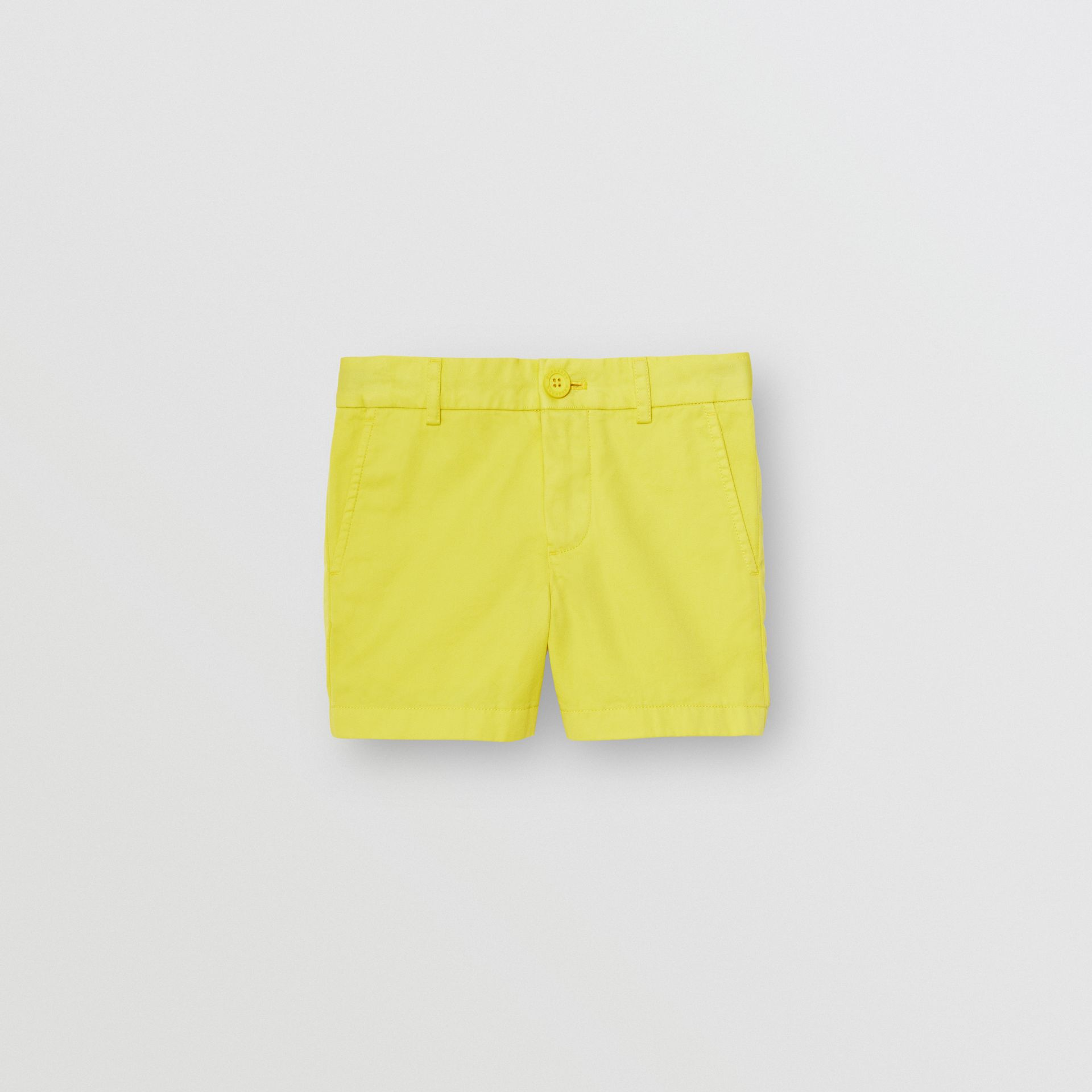 Cotton Chino Shorts in Citron - Boy | Burberry - gallery image 0