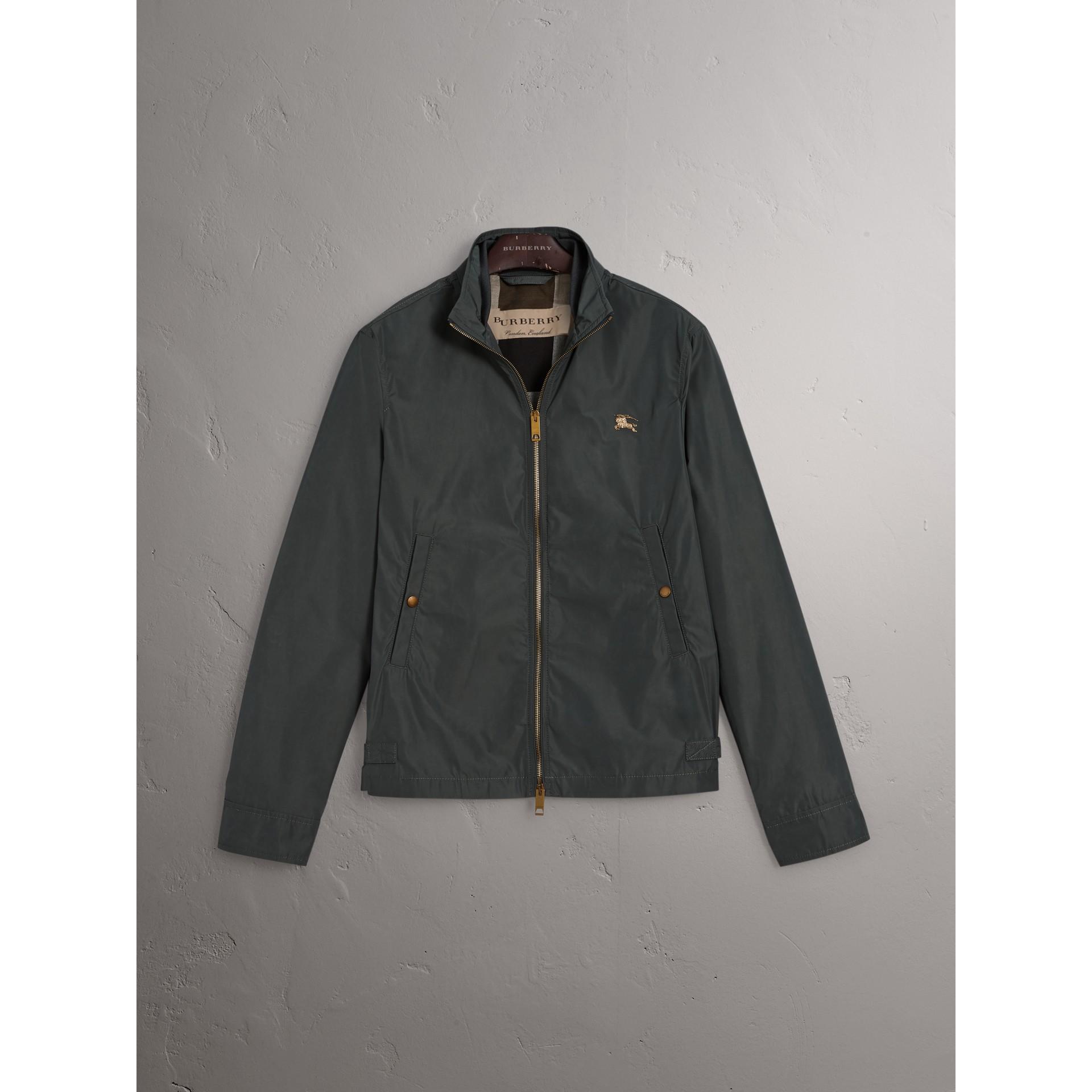 Lightweight Technical Jacket in Smokey Green - Men | Burberry United Kingdom - gallery image 4