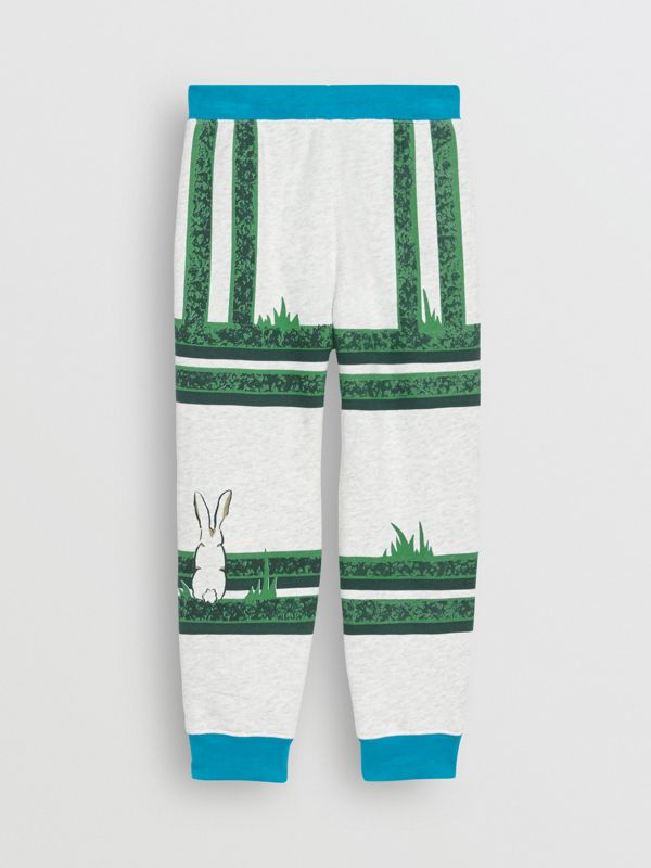 Hedge Maze Print Cotton Trackpants in Multicolour | Burberry - cell image 3