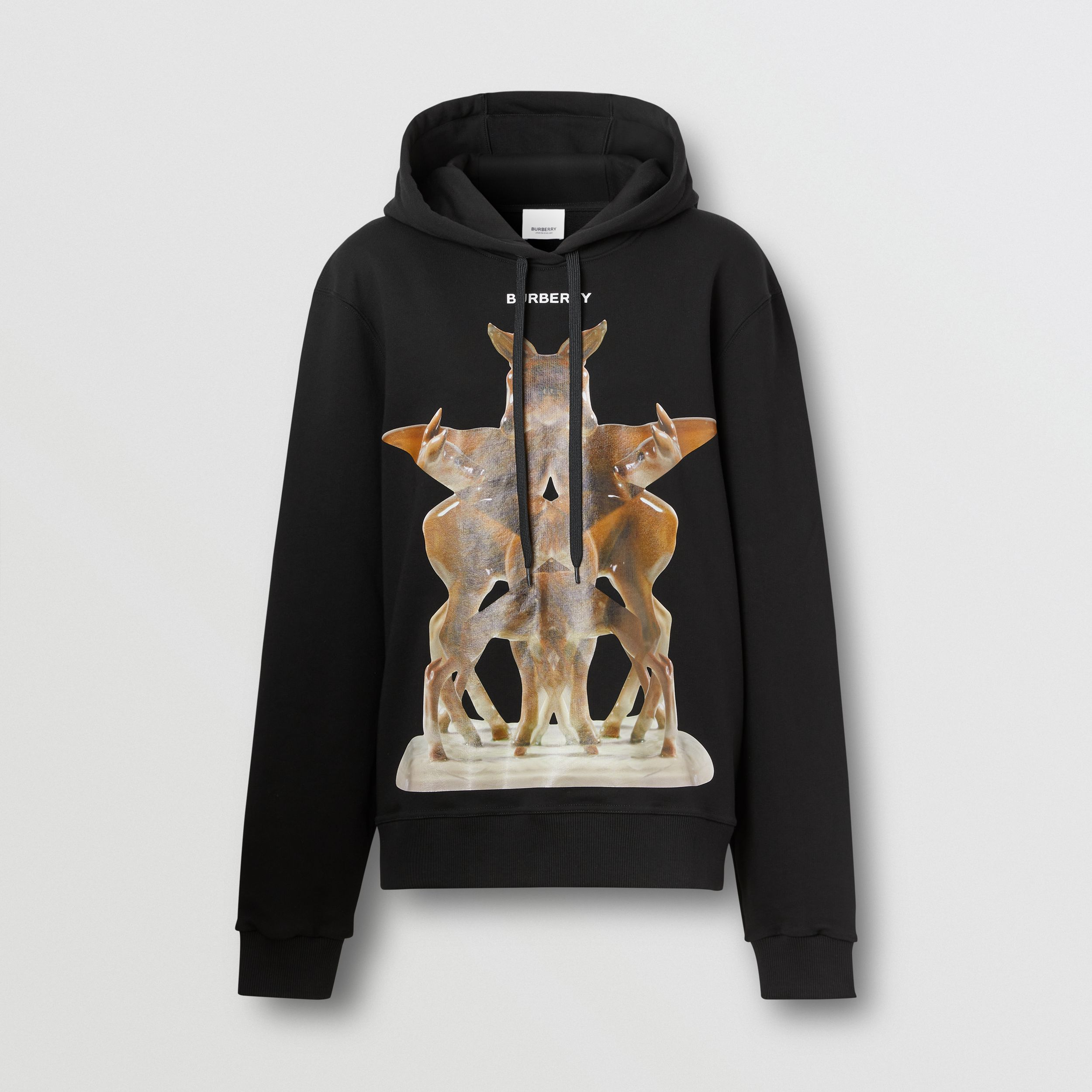 Kaleidoscope Print Oversized Hoodie – Online Exclusive in Black - Women | Burberry United Kingdom - 4